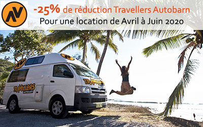 25% de réduction sur votre location de van de la marque Travellers Autobarn en Australie