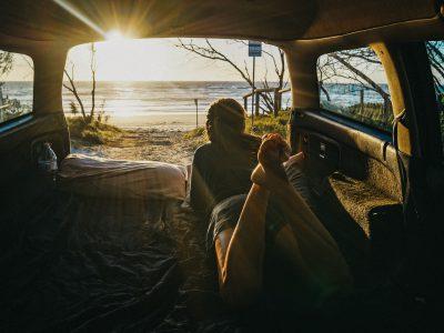 Van Travellers Autobarn Station Wagon en Australie - intérieur